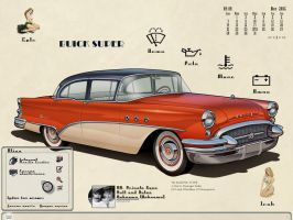 1955 Buick by scubabliss