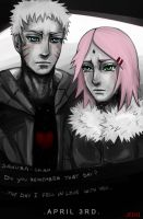 NaruSaku . April 3rd . by Kihiart
