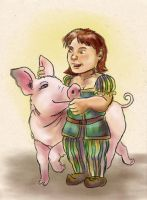 Penny and Pretty Pig by kethryn