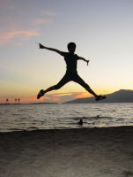 jump on a sunset by januscastrence