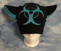 Blue Biohazard Kitty Hat by HatcoreHats