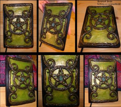 Book of shadows Witch Wicca pagan pentagram by NymphspellDesign