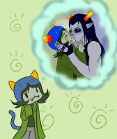 Nepeta and Equius 2 by midnazora