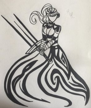 Chess Piece Tribal: Warrior Queen by Tribalwinds