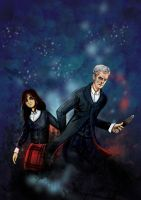 Twelfth Doctor with Clara by Lanka69