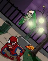 Spider-Man vs The Vulture by brodiehbrockie