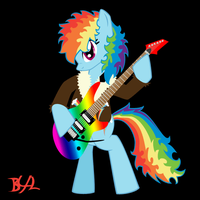 Rockin' Rainbow Dash Animated by BronyBiscuitBites
