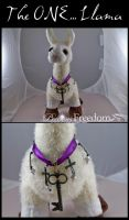 The one Llama... with necklace by RavynCrescent