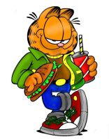 Garfield with Food by DartiRevi