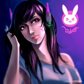Overwatch - D.Va by CoffeeCat-J