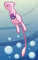 Diving Mew by FyeDFluorite