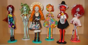 OOAK Custom Monster High dolls by redmermaidwerewolf