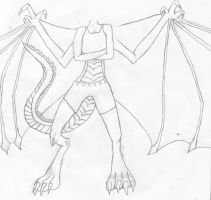 Anthro Dragon, unfinished by dragonfanatic13