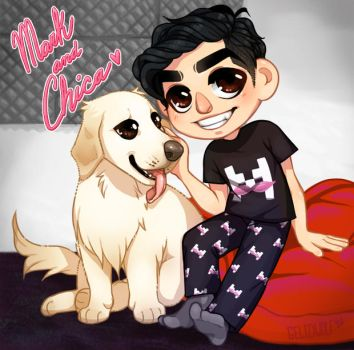 Mark and Chica Livestream by Gelidwolf