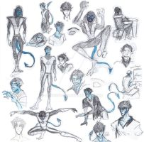 Nightcrawler Sketch dump by Sakeke