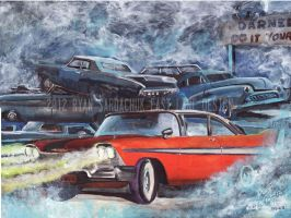 Christine (1958 Plymouth Fury Painting) by FastLaneIllustration