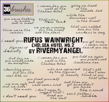 Rufus Wainwright Text Brushes by RandyStoleMyKeys