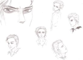 Edward Cullen Sketch Dump by Vampire-V