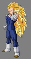 Vegeta - Super Saiyan 3 by dbzataricommunity