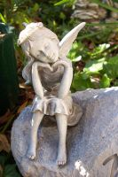 Skinny Fairy Statue by paintresseye