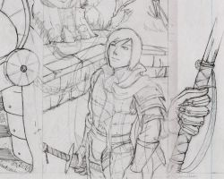 Crocodile King pencils preview by SimonGannon
