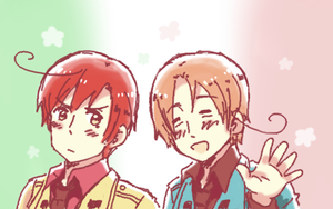hetalia: italy bros by supermario228
