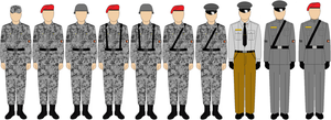 Uniforms of the Grand Republic of Silverfield by Mr-Ichart