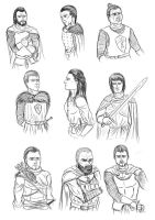 A dance of swords: Character scetches by Kimmie1997