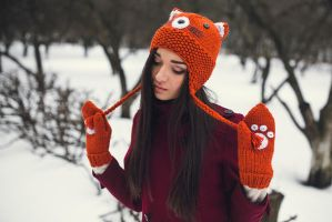 Fox Beanie and Mittens by NatalieKnit