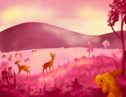 Pink meadow by AnnMY