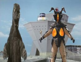 Godzilla 1974 vs Zetton by ltdtaylor1970