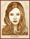 Karen Gillan as Amy Pond by strryeyedreamr27
