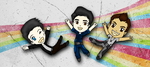 Chibi Baka Shepard + Kaidan + James by Emme-Gray