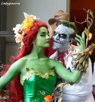 Poison Ivy and Joker by LadyGinevra