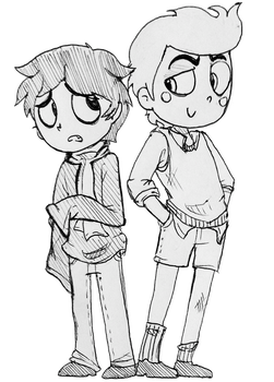 Human Scaredy and Booboo by That-Love-Voodoo
