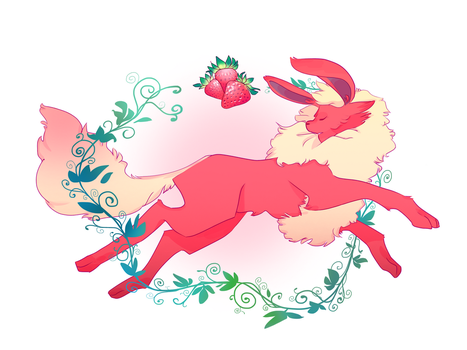 Strawberry Flareon by of-airis