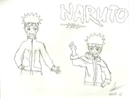 Little Naruto and Big Naruto by leidyhina92