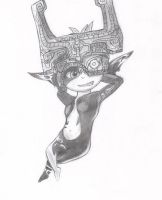 Midna Twilight Princess - Pencil Drawing by Shiny-Ace
