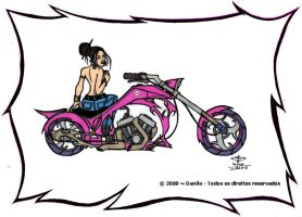 Pin Up on a Pink Beast by CDL113
