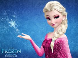 Frozen Elsa Pink Dress by Vegetto90