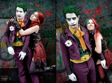 Harley Quinn and Joker - Injustice: Gods Among Us by FioreSofen