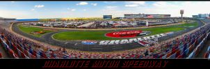 Charlotte Motor Speedway panorama by Dracoart