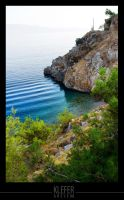 greek beach by klefer