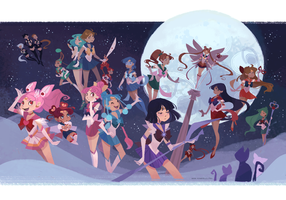 Sailor Soldiers by nna