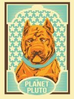 Planet Pluto poster by Lundsfryd