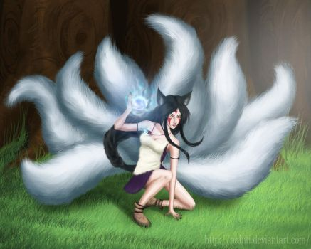 Ahri / Princess Mononoke by nahiti