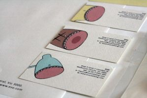 EVO Clothing Business Cards by stephanielok