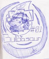 Drawing Challenge Day 04 - Bulbasaur by ArwingPilot114