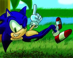 the blue bastard relaxing by SonicForTheWin1