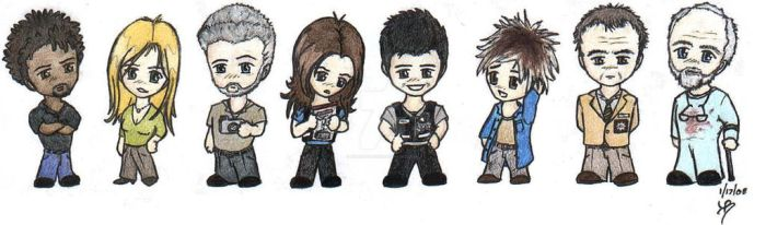 Chibi CSI Group Picture-Color by kyphoscoliosis
